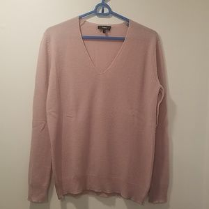 Pink Theory V Neck Cashmere Sweater